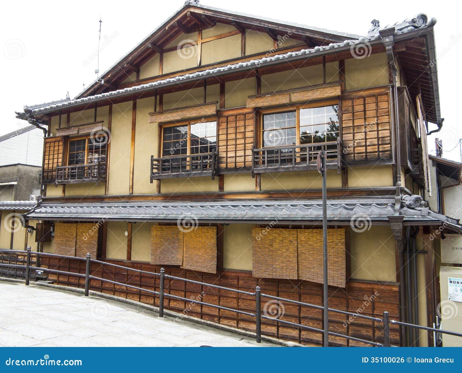 Casa giapponese tradizionale fotografia stock immagine for Casa giapponese