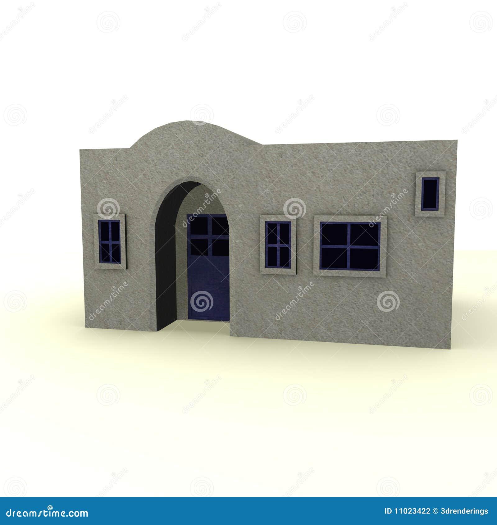 Casa greca illustrazione di stock immagine di shack for Piccole case di rinascita greca