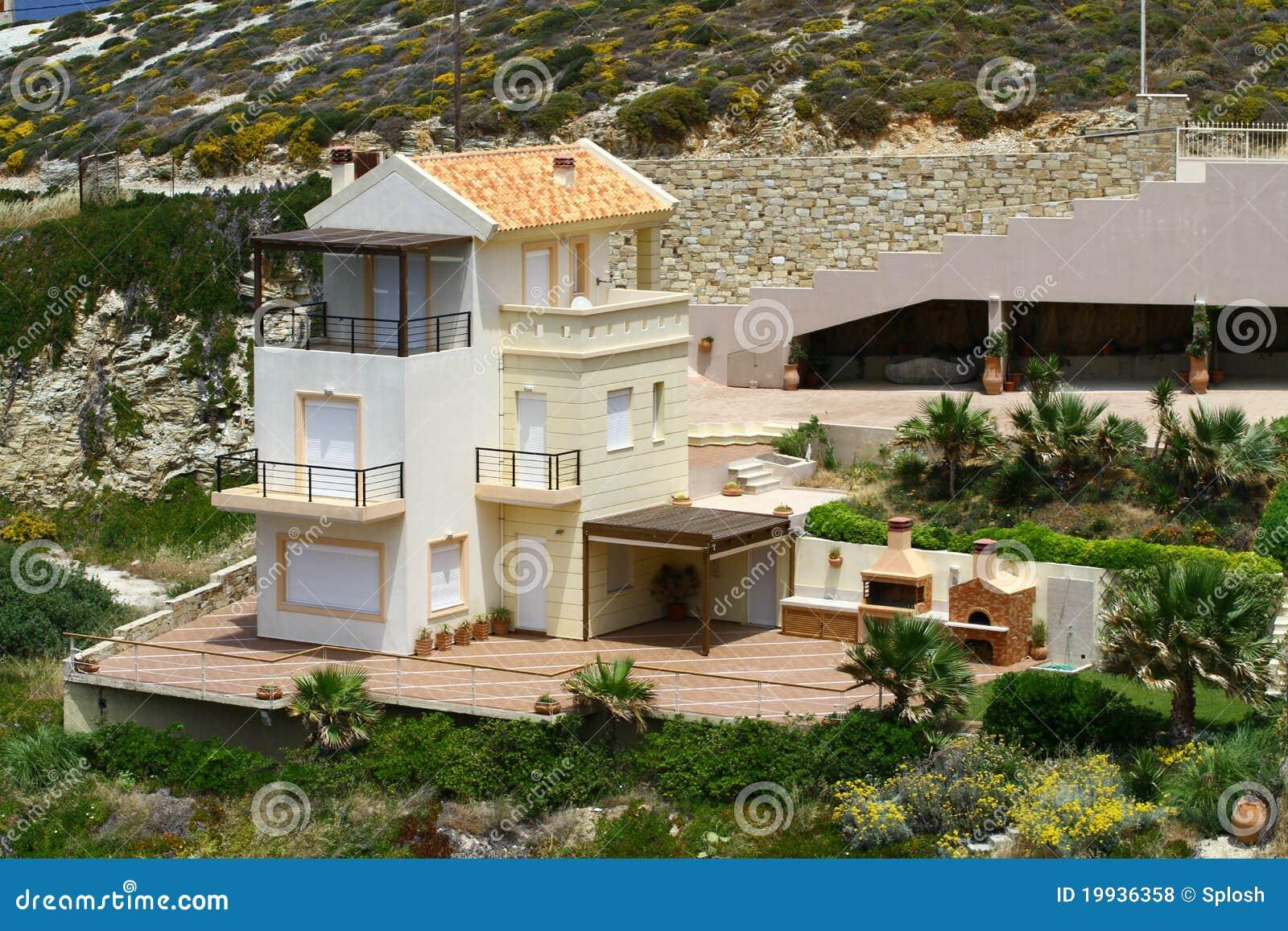 Casa greca fotografie stock libere da diritti immagine for Piccole case di rinascita greca