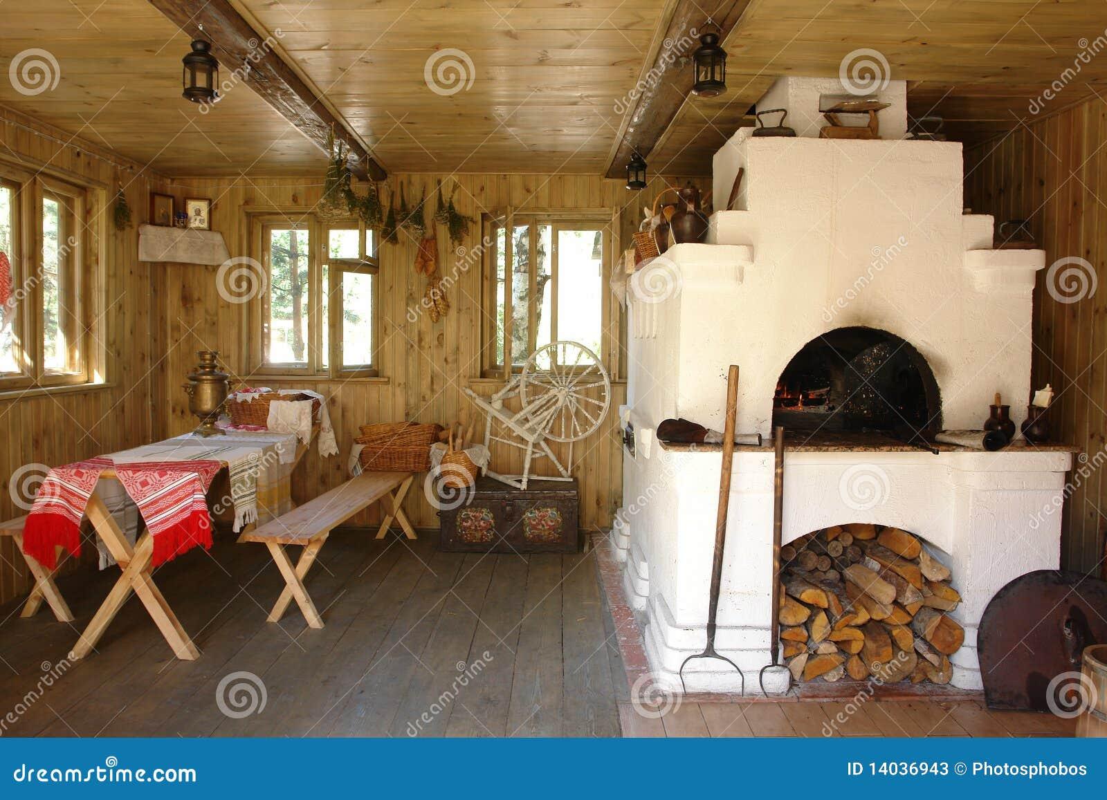 Casa interior con el horno