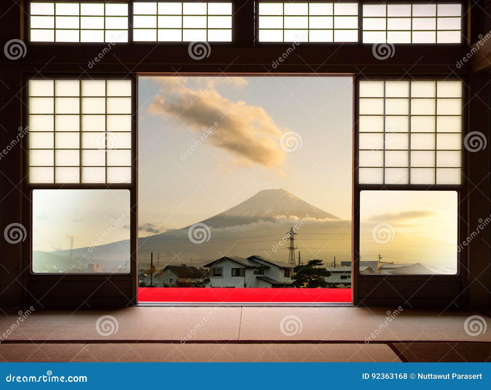 Casa Interior Japonesa Tradicional Y Puertas Deslizantes De Papel - Puertas-japonesas-deslizantes