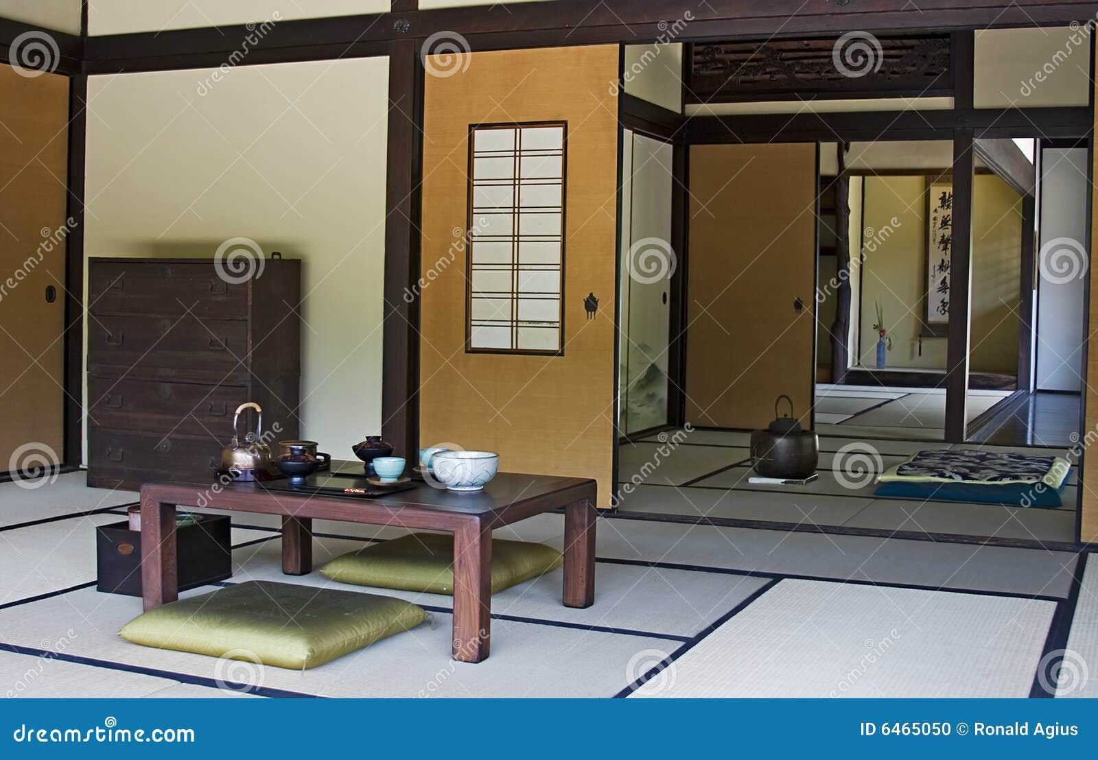 Una parte interior de una casa japonesa