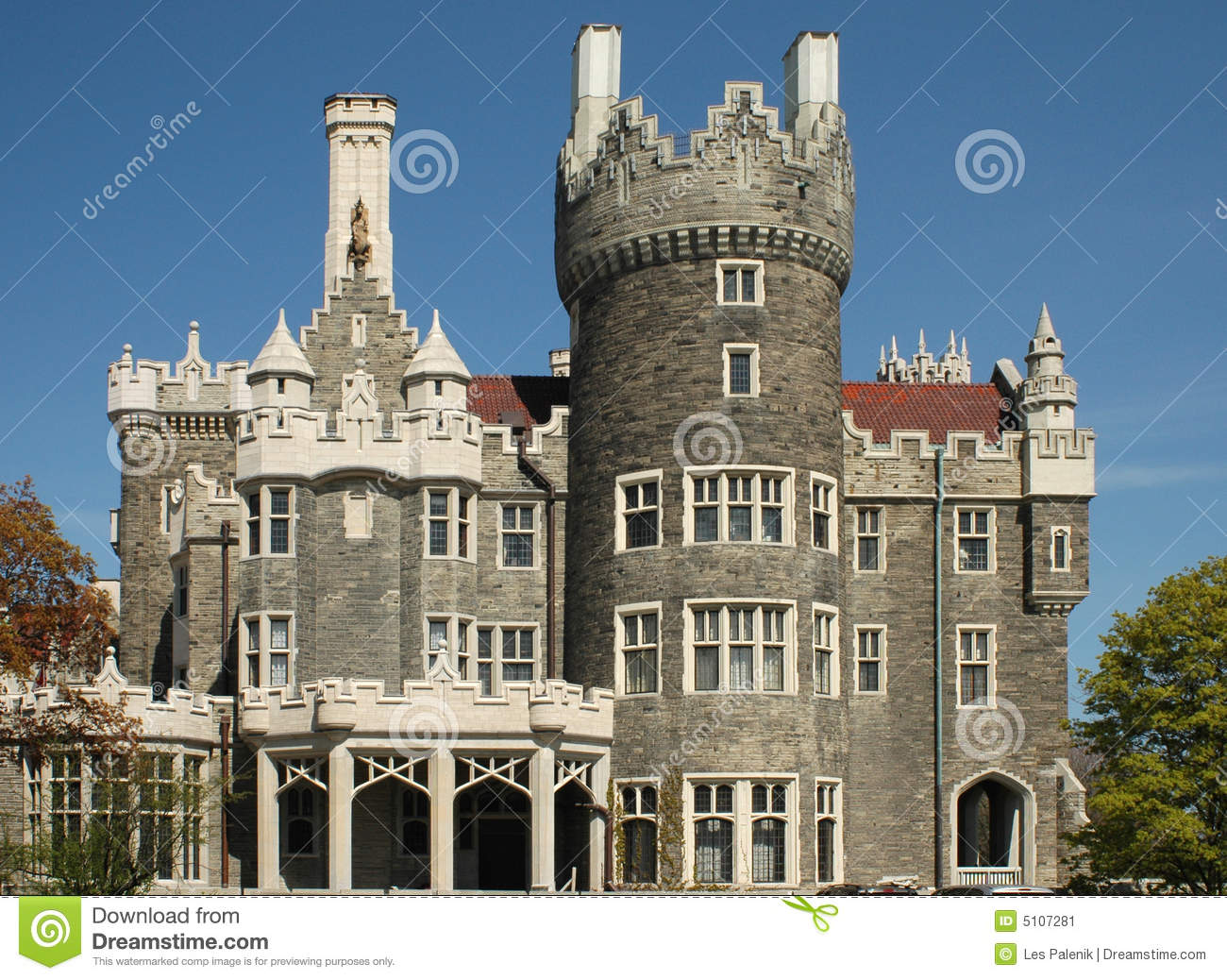 Casa loma castle in toronto stock image image 5107281 for Casa loma mansion toronto