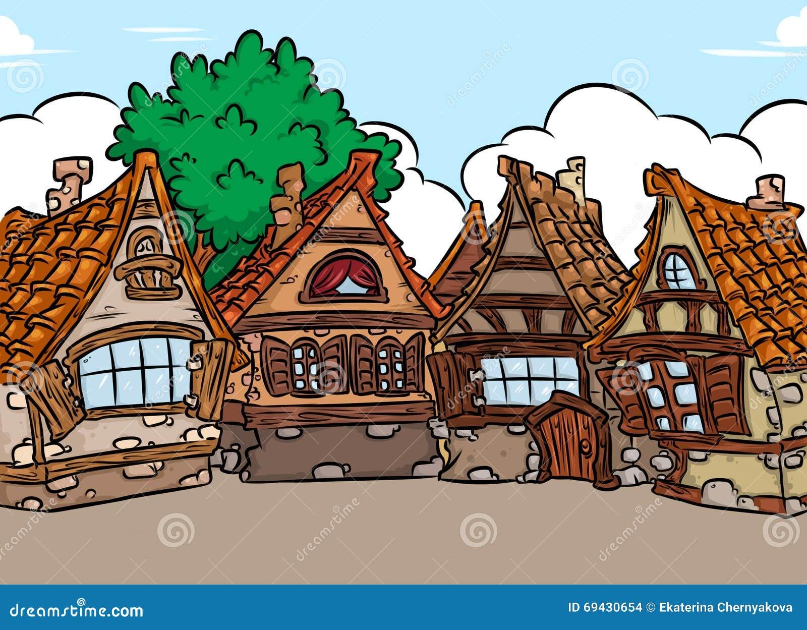 Casa medieval del fondo de la arquitectura