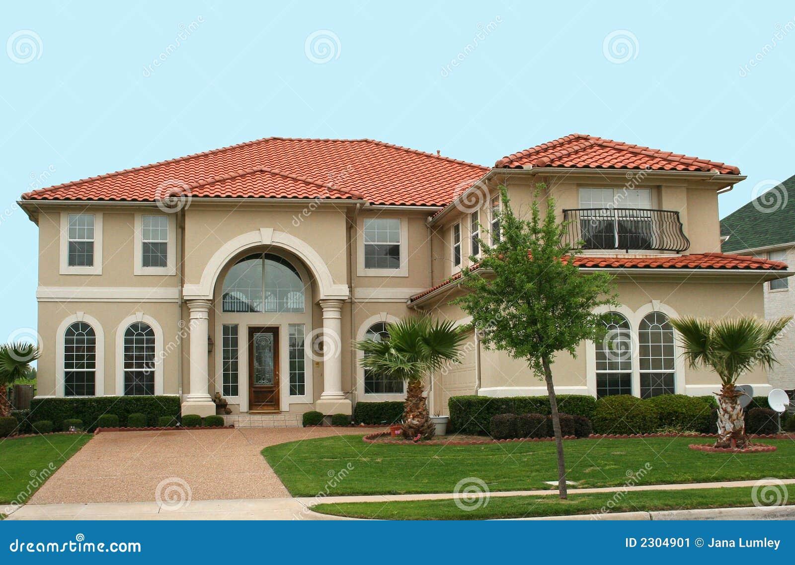 Casa mediterranea di stile immagine stock immagine 2304901 for Casa di 750 m
