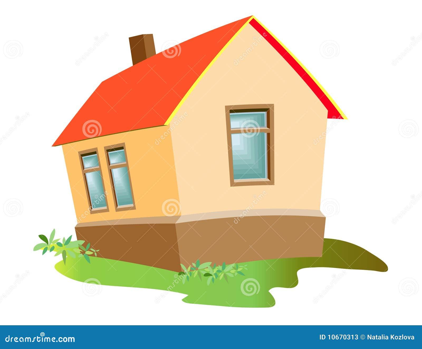 Casa modelo de vector con el fichero del vector eps for Cosas para amueblar una casa