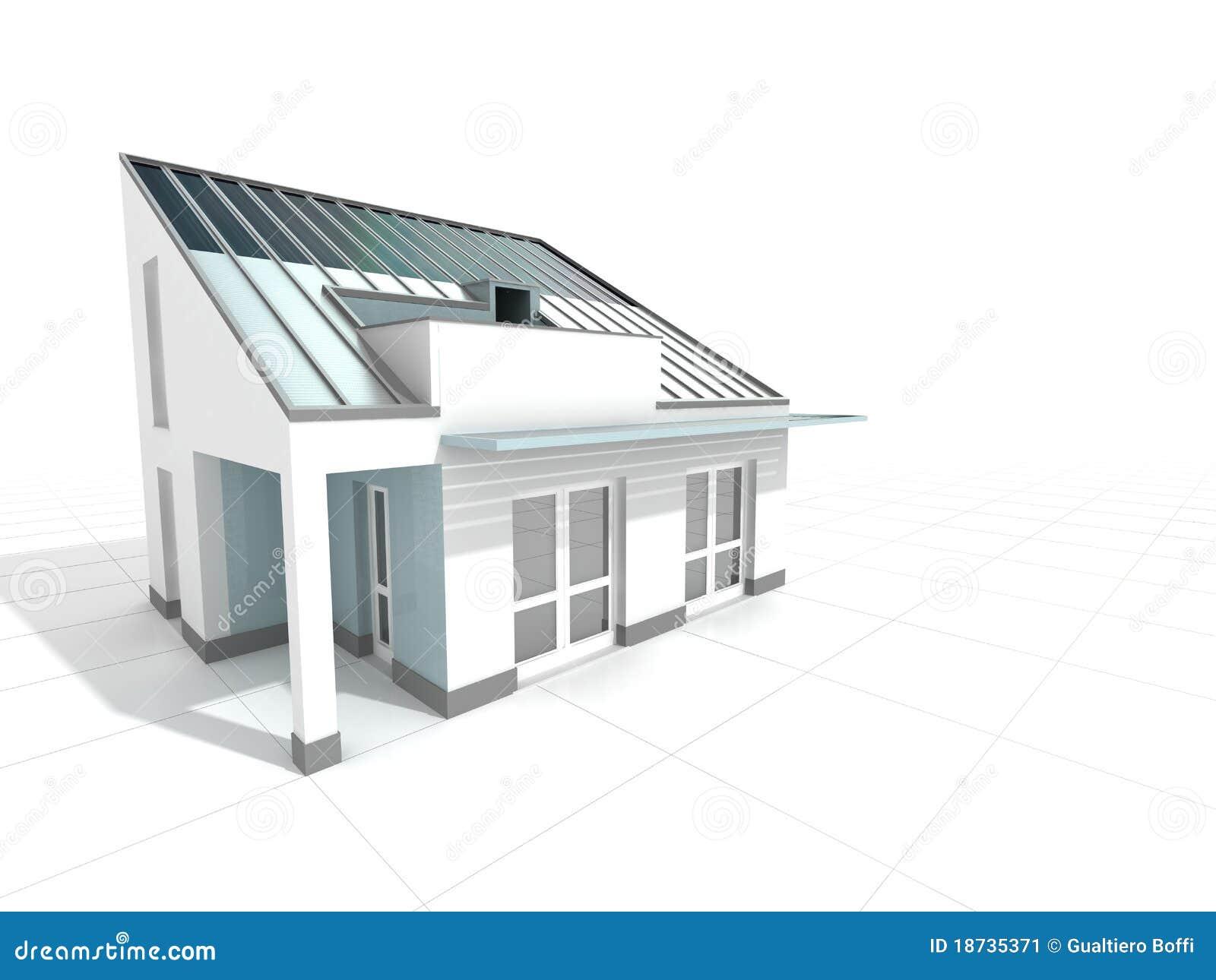 Casa moderna blanca imagen de archivo imagen 18735371 for Casa moderna blanca
