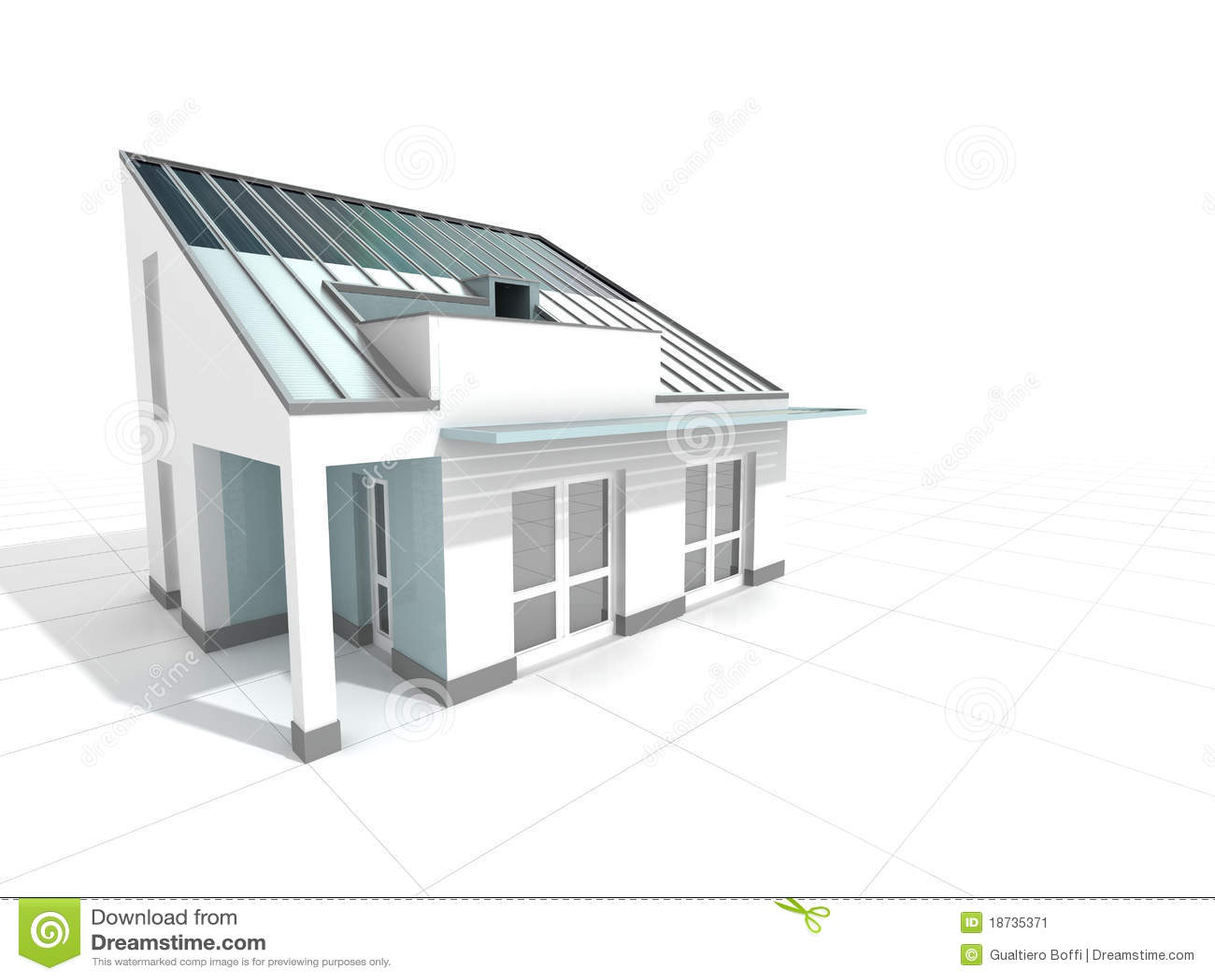 Casa moderna blanca imagen de archivo imagen 18735371 for Casas blancas modernas