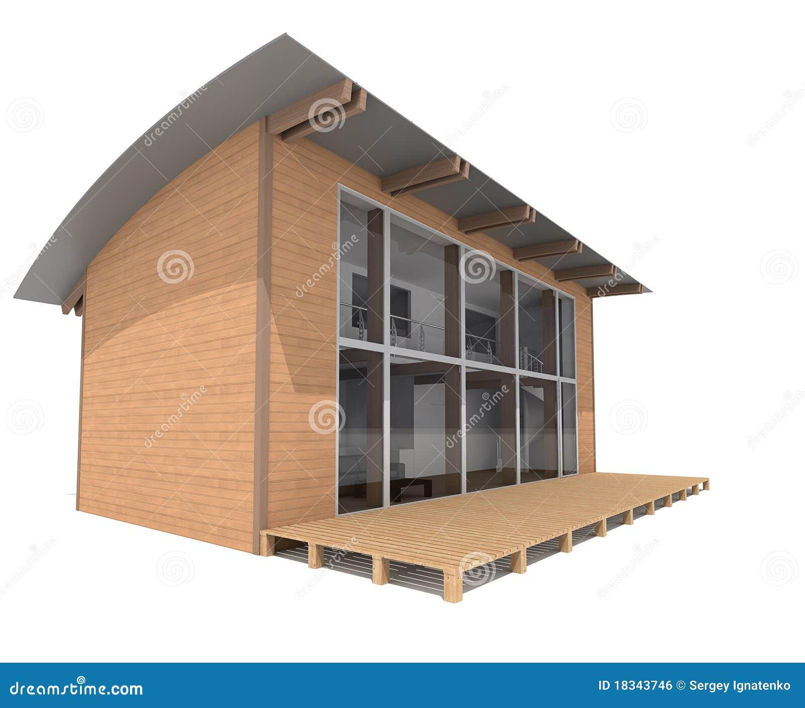 Casa moderna de dos pisos en el fondo blanco imagen de for Casa moderna vector