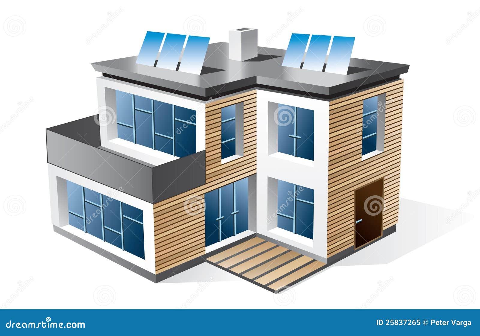 Casa moderna della famiglia illustrazione vettoriale for Planimetrie della casa ultra moderna