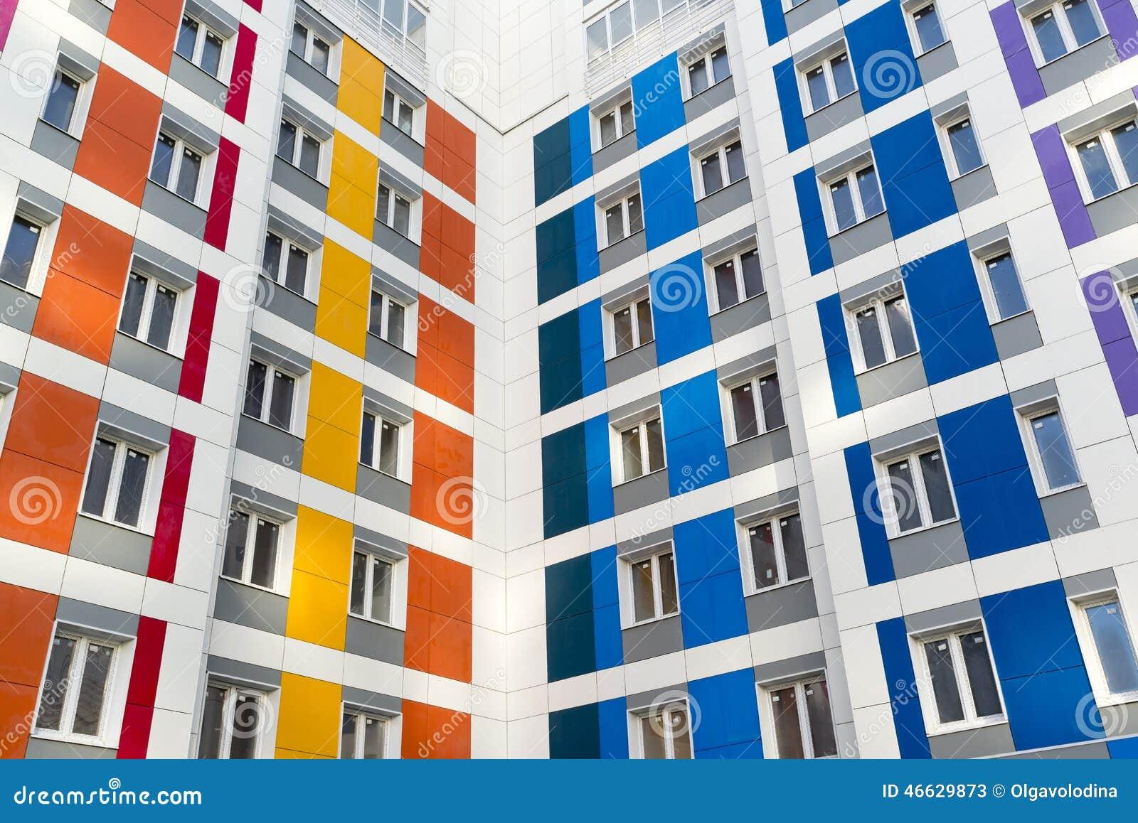 Casa moderna hermosa con las fachadas coloridas foto de for Casa moderna vector
