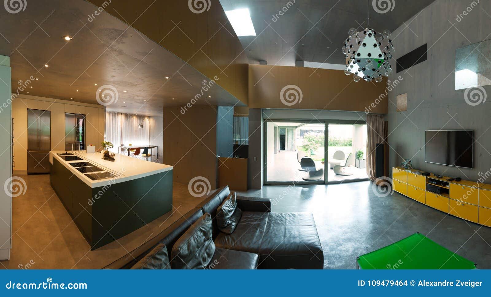 hermosas fotos de interiores de casas Casa Moderna Hermosa En El Cemento Interiores Foto De