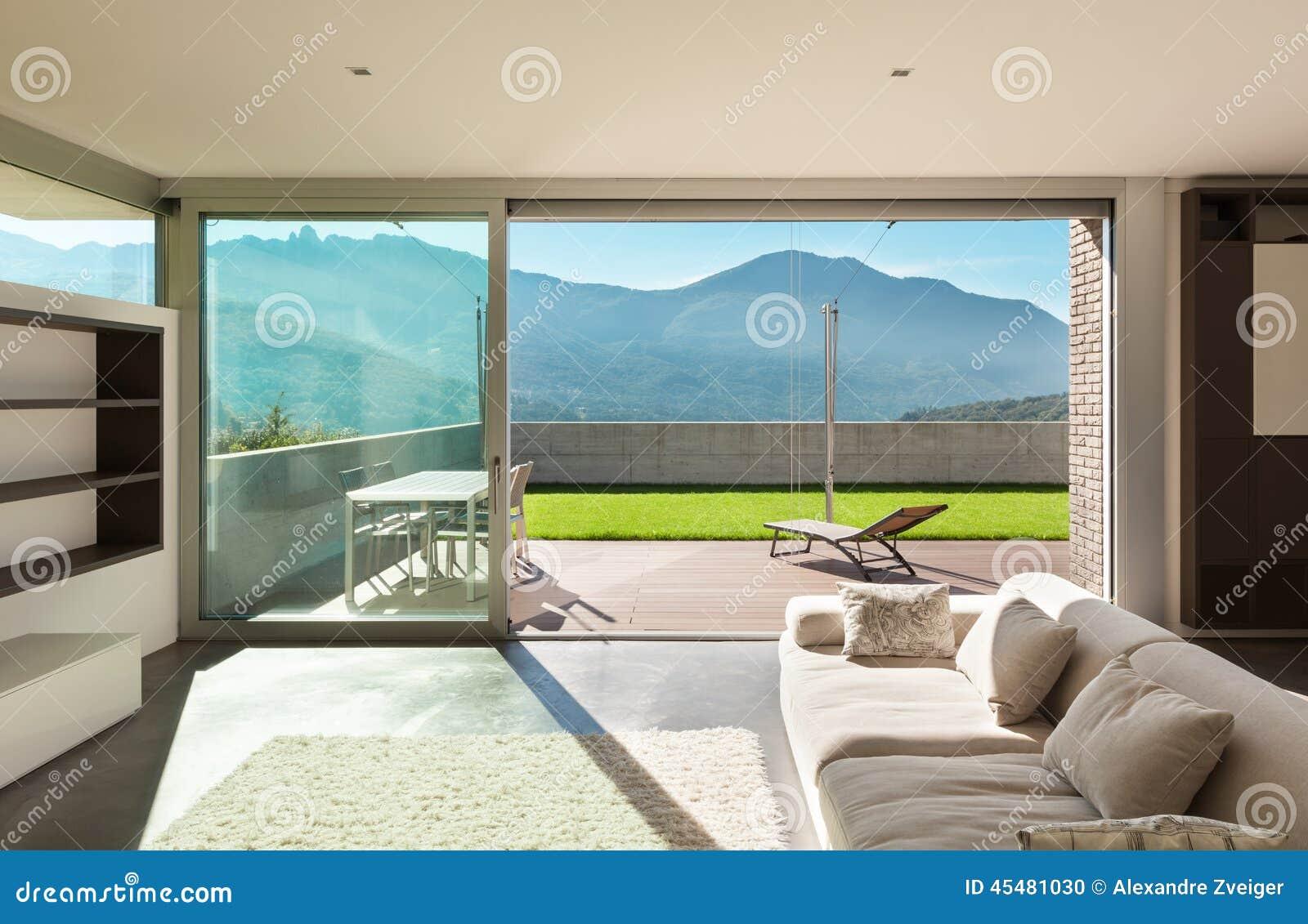 casa moderna interior sala de estar foto de archivo