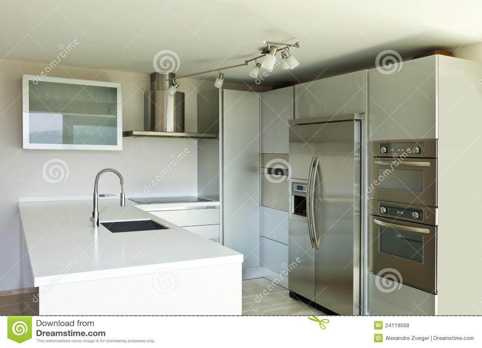 Casa Moderna, Isla De Cocina Foto de archivo - Imagen de cocina ...