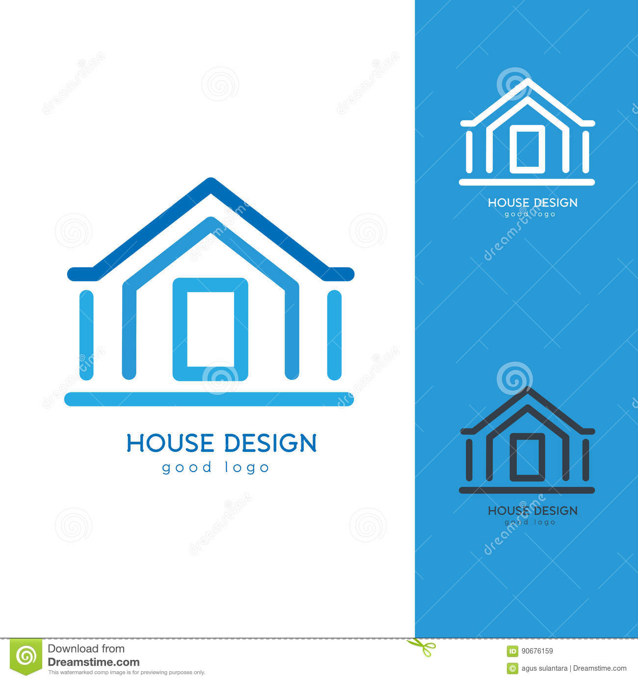 House design logo - Royalty Free Download Casa Moderna Logo Design