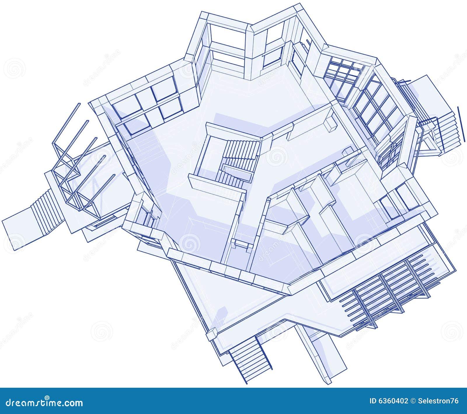 Casa moderna modelo for Casa moderna vector
