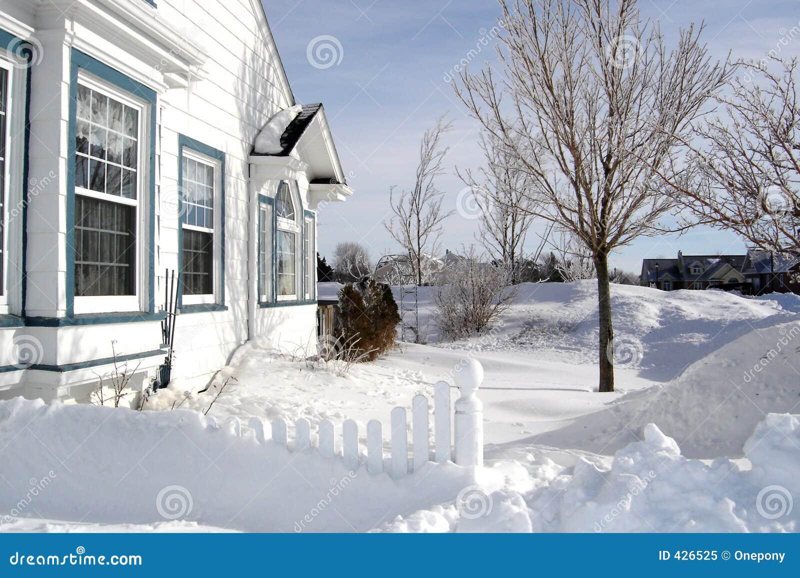 Casa na neve