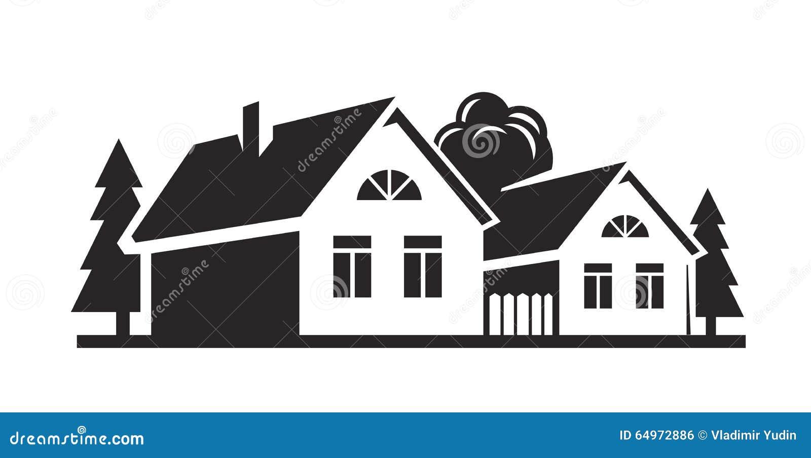 casa negra del vector ilustraci n del vector imagen de perspectiva 64972886. Black Bedroom Furniture Sets. Home Design Ideas