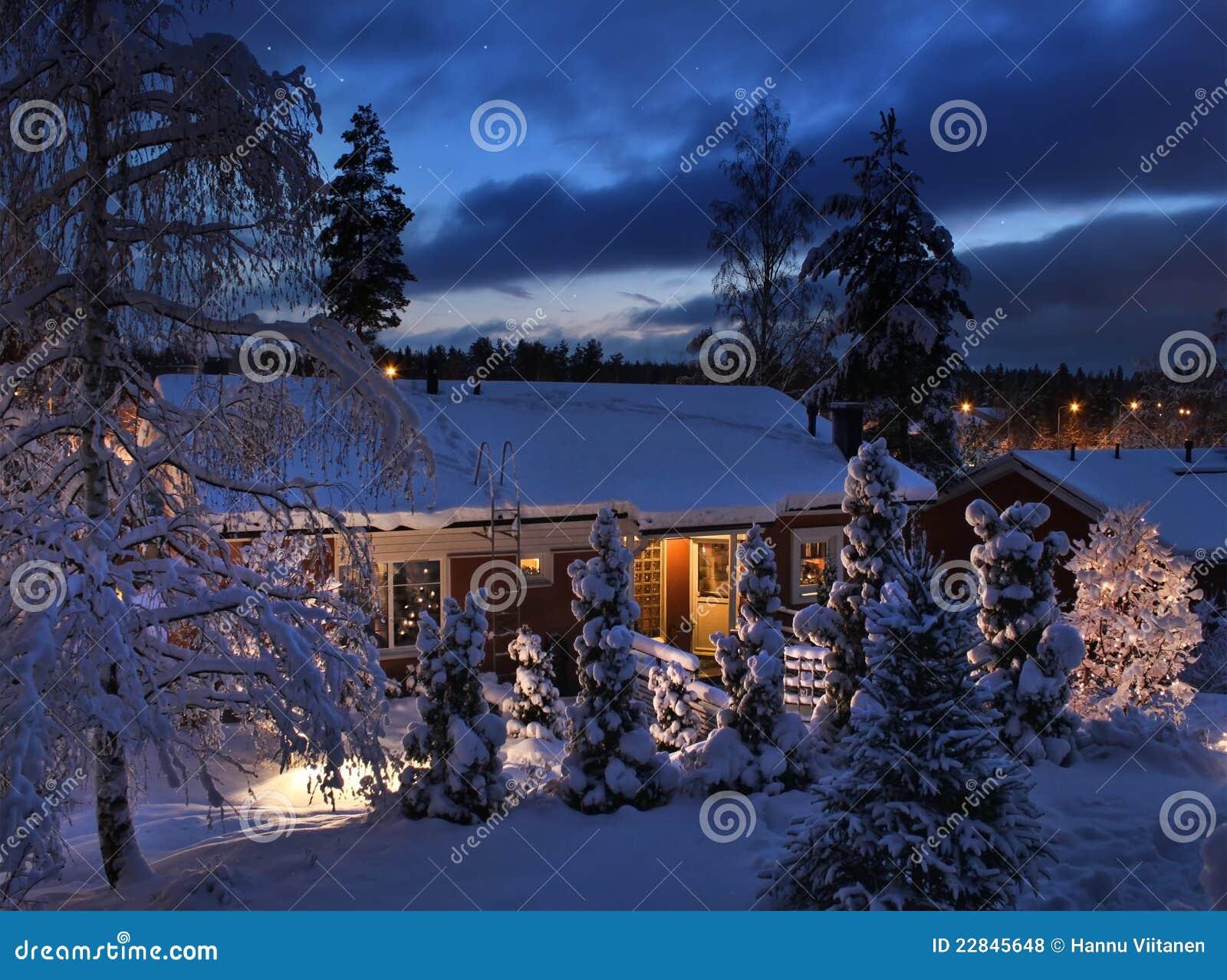 Casa Nevado el la tarde de la Navidad