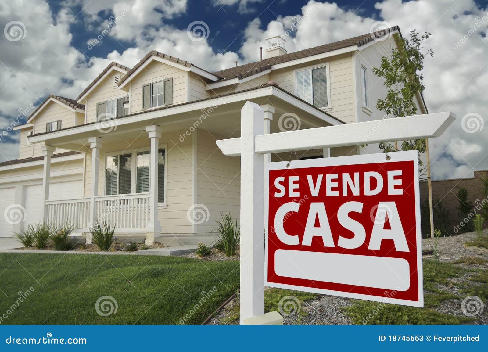 Casa nieruchomości domu reala se szyldowy hiszpański vende