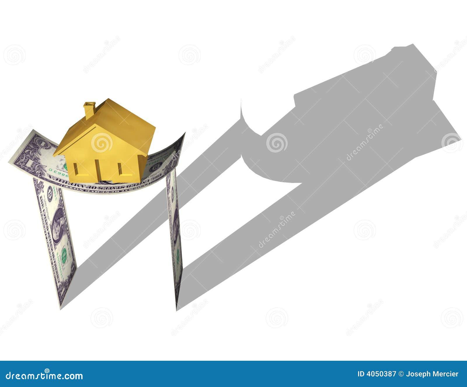 Casa no dinheiro
