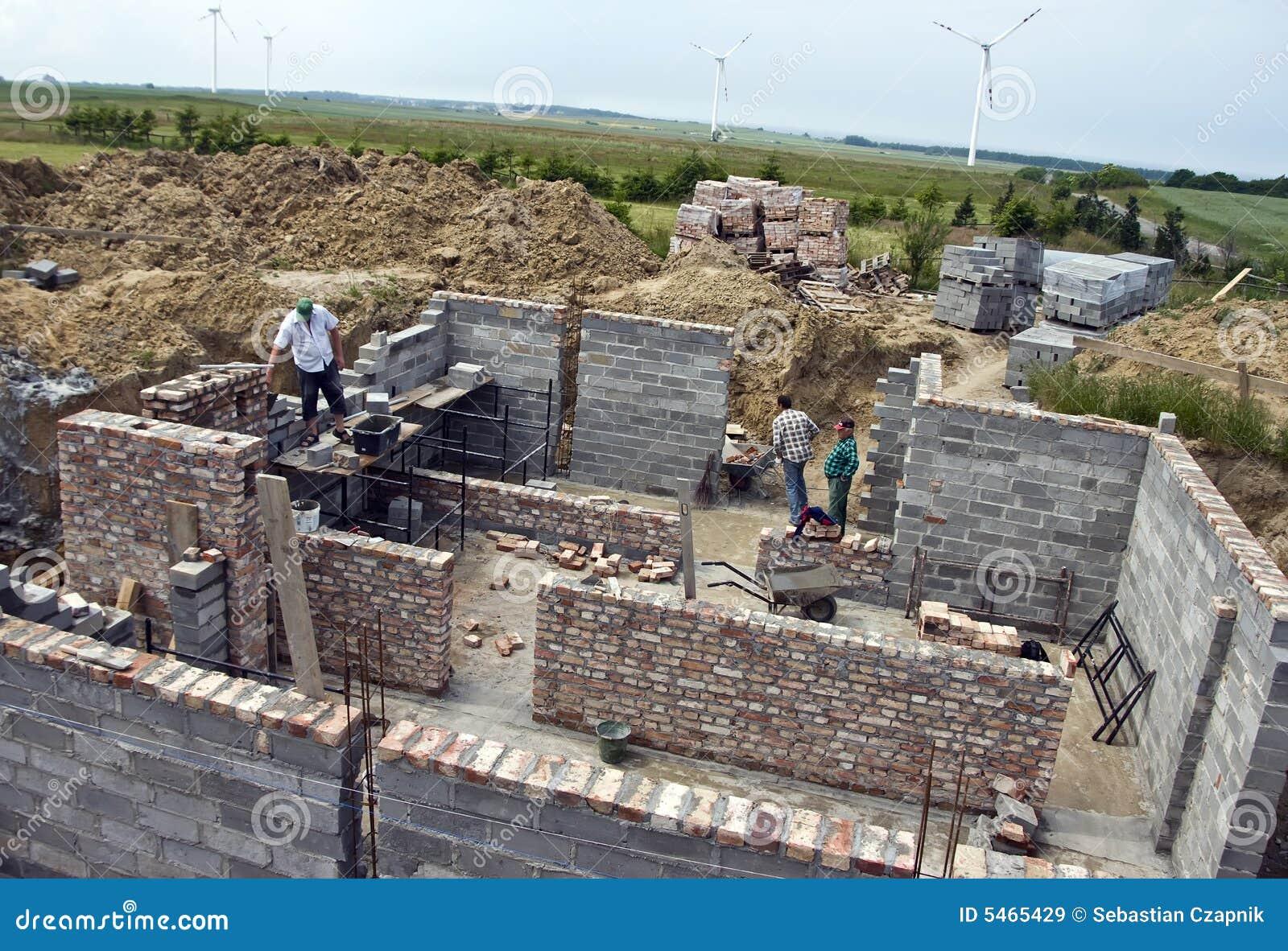 Casa nova que está sendo construída