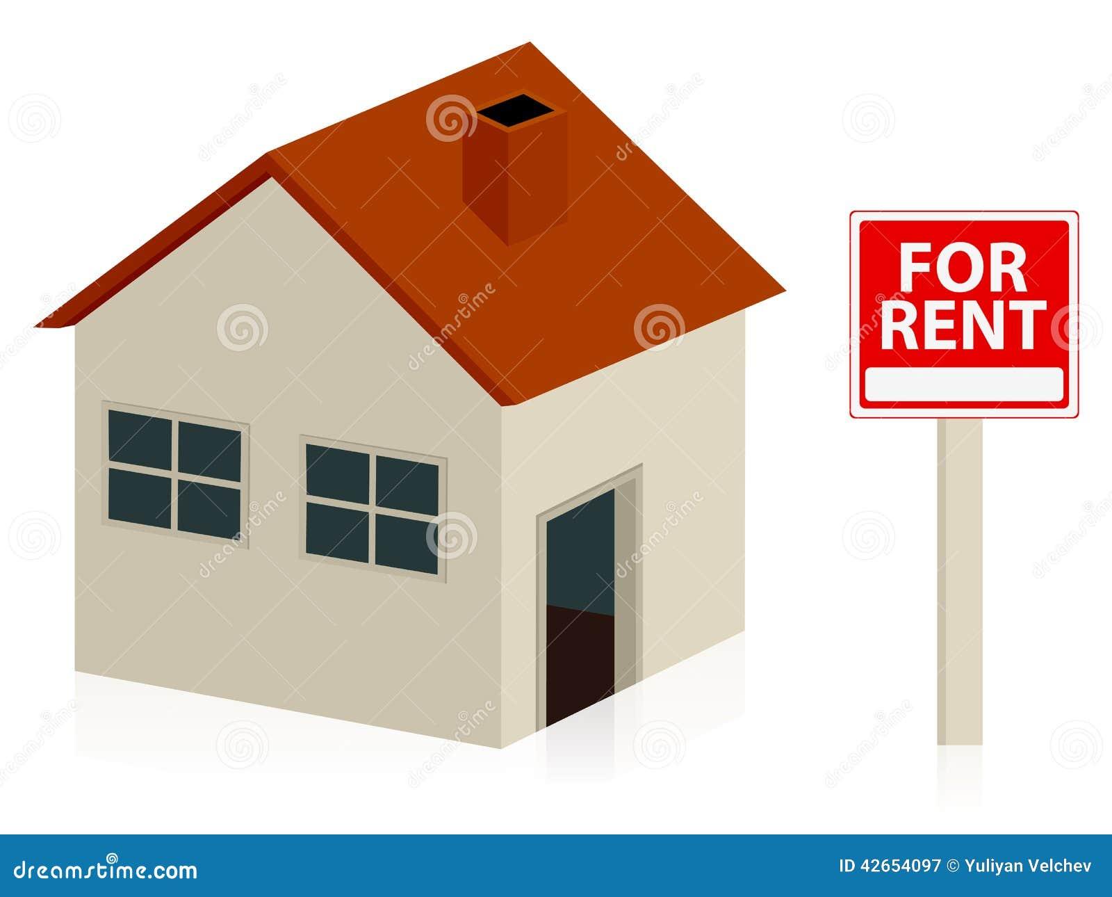 Casa para el alquiler ilustraci n del vector imagen for Busco casa para rentar