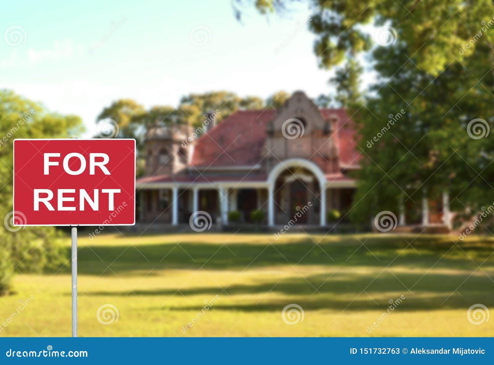 Casa para o conceito do aluguel