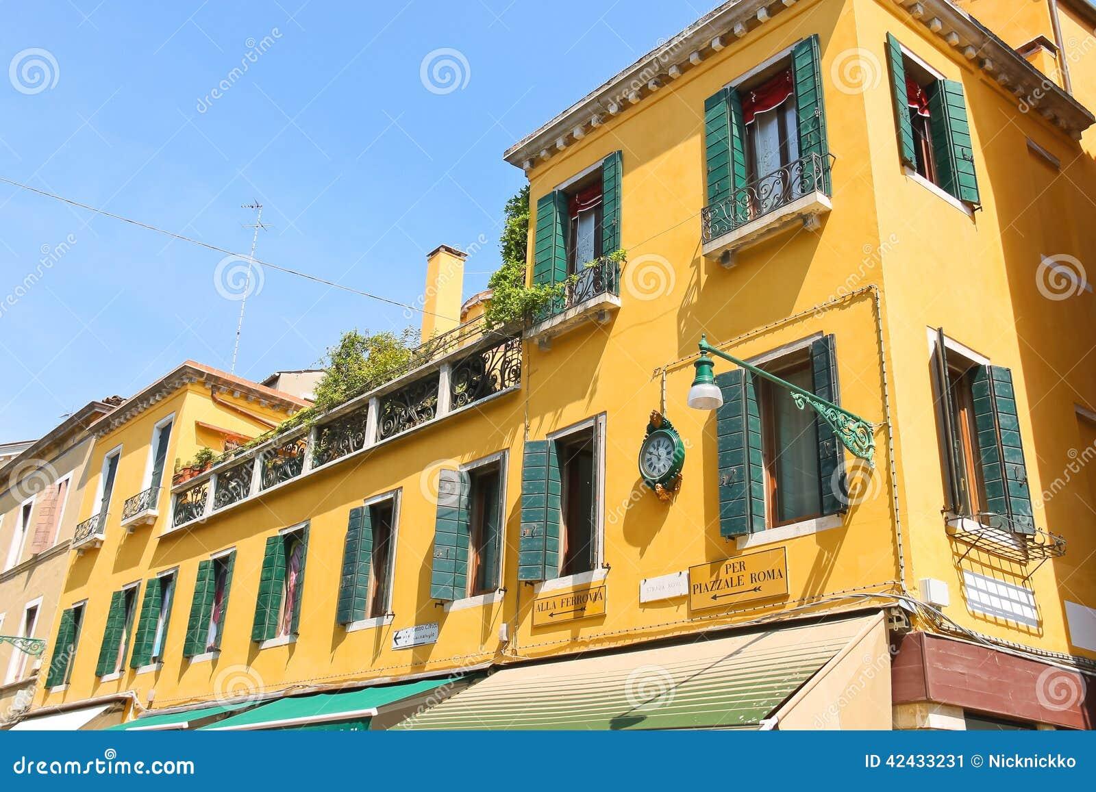 Casa pintoresca en Venecia, Italia