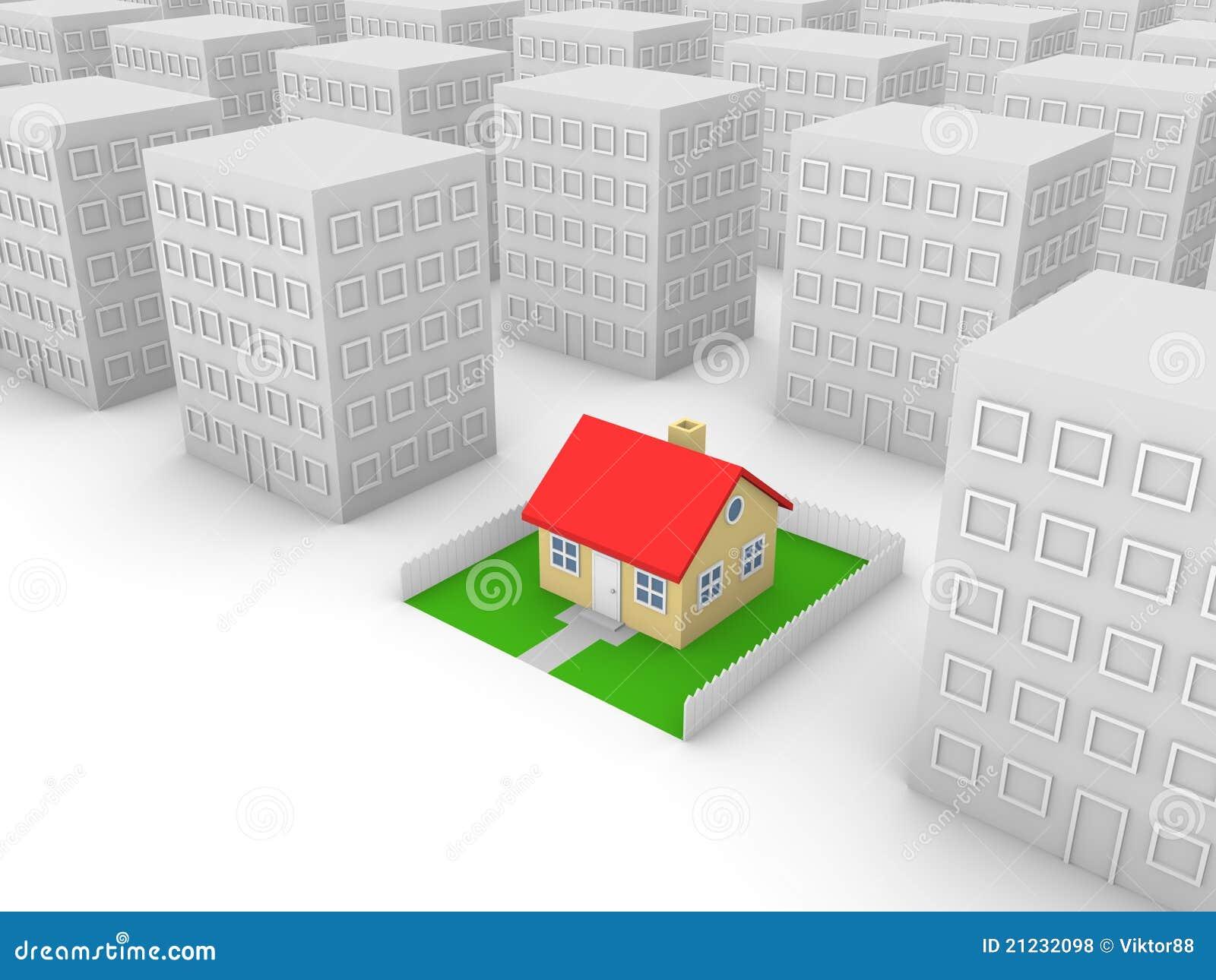 Casa privada en la ciudad