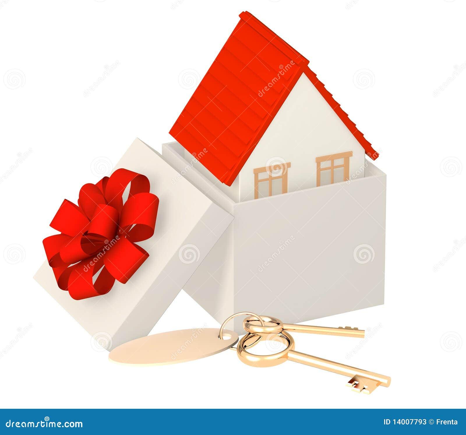 Casa regalo fotos de archivo imagen 14007793 - Regalos en casa ...