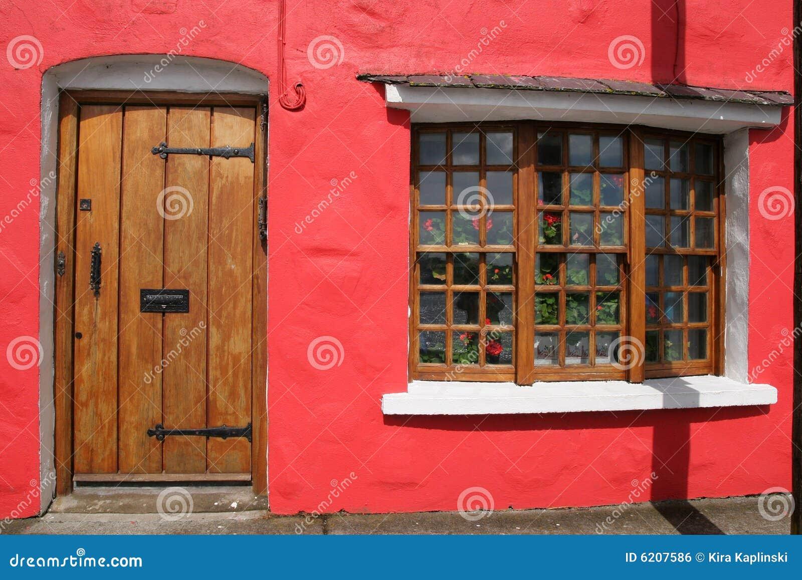 Casa roja en Galway