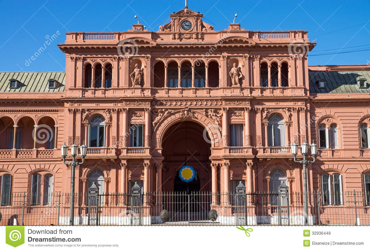 The casa rosada in buenos aires royalty free stock images for Casa argentina