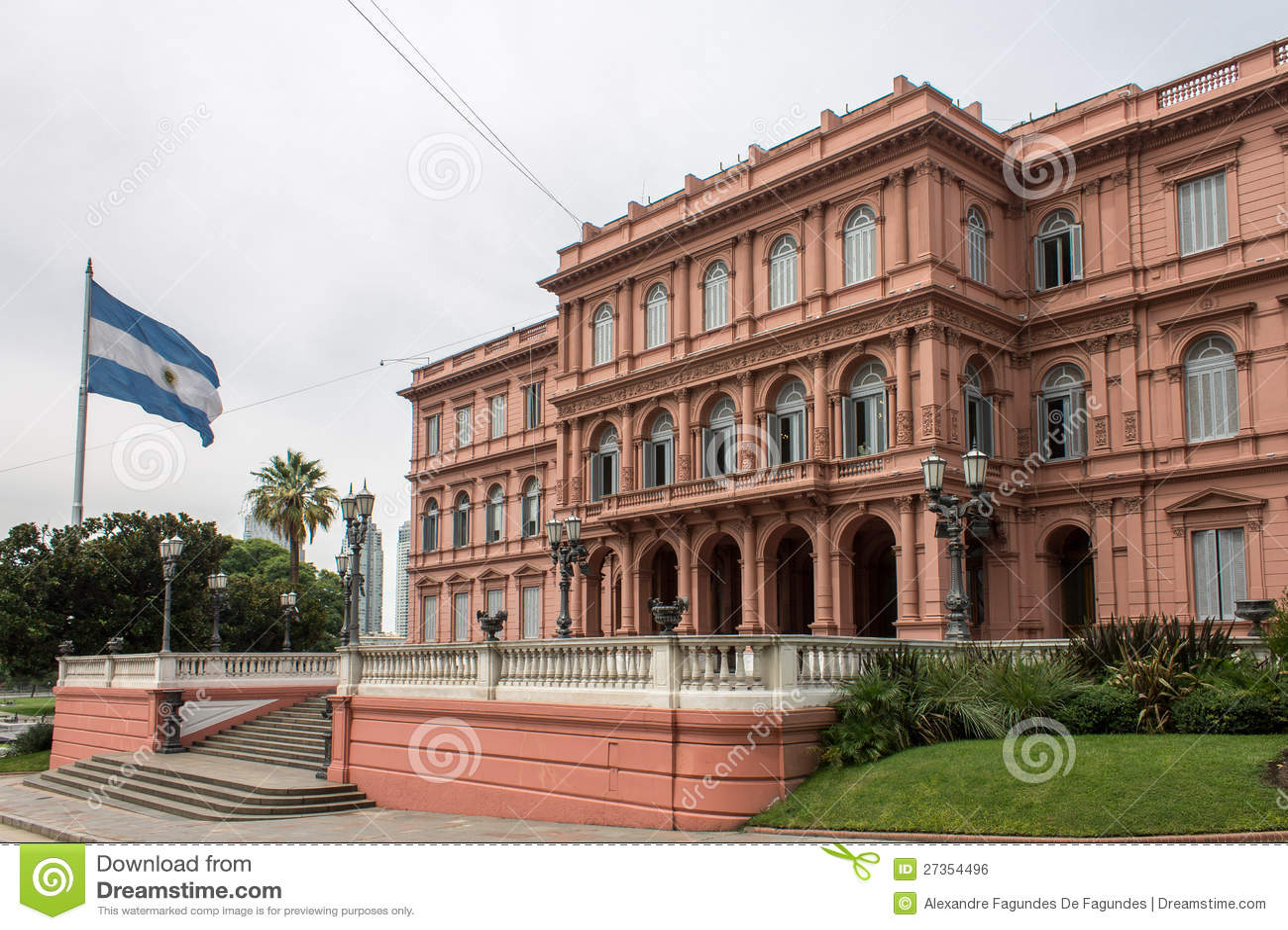 Casa rosada side facade argentina royalty free stock image for Casa argentina