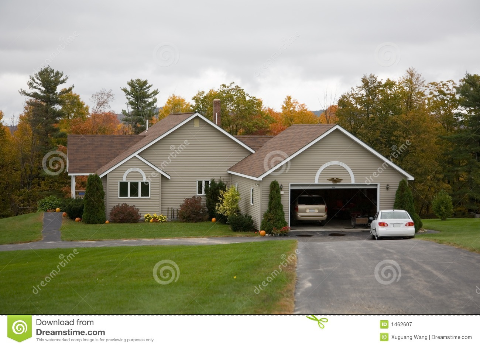 Casa rural na folha