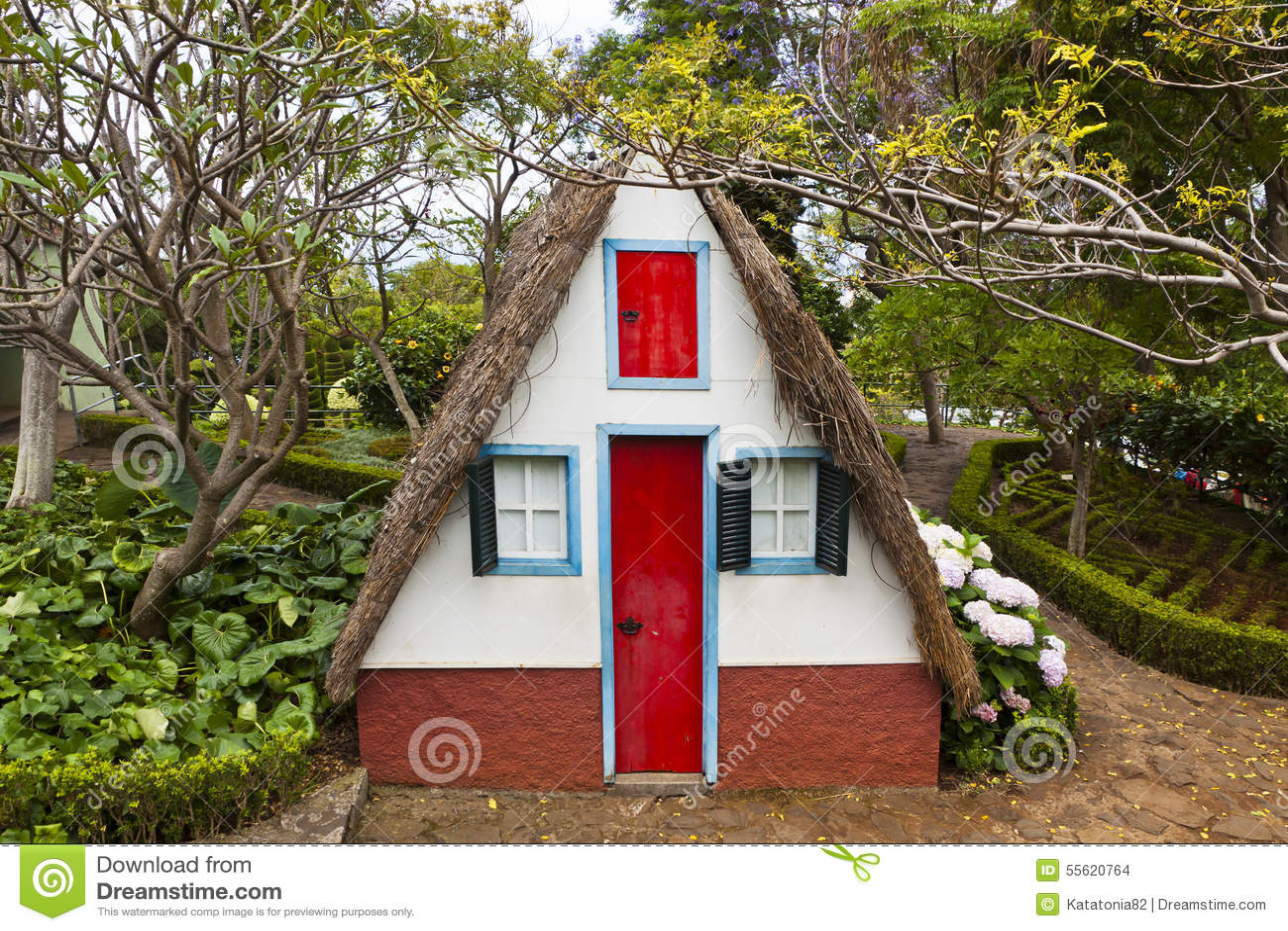 Casa rural tradicional em Santana Madeira, Portugal