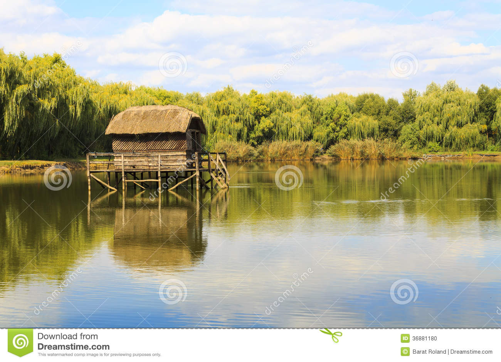 Download Casa sola dal lago fotografia stock. Immagine di origine - 36881180