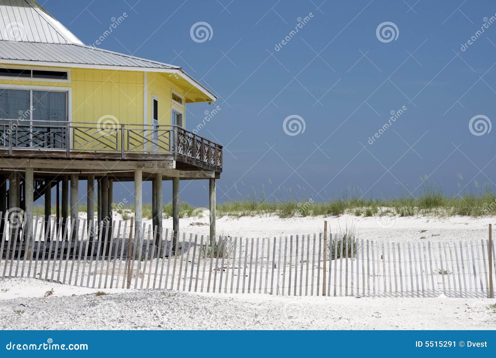 Casa sulla spiaggia immagine stock immagine di affitto for Piccoli disegni di casa sulla spiaggia