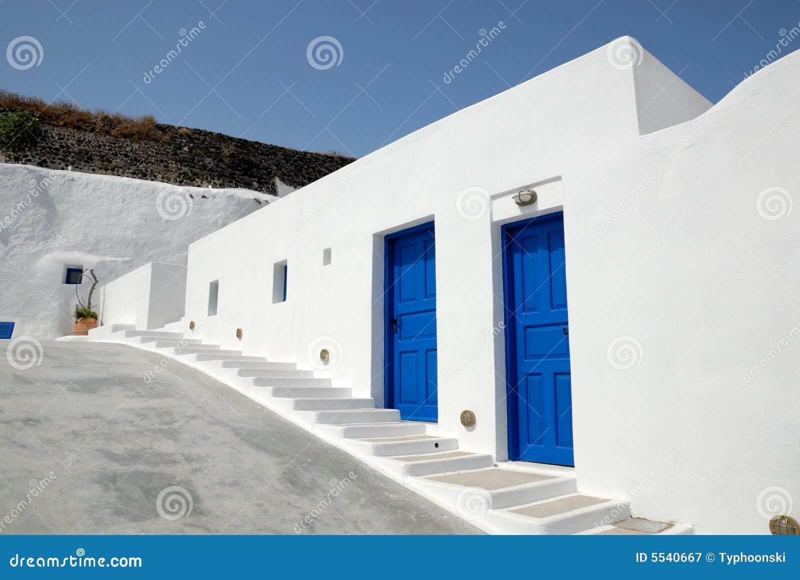 Casa tradicional en Santorini, Grecia