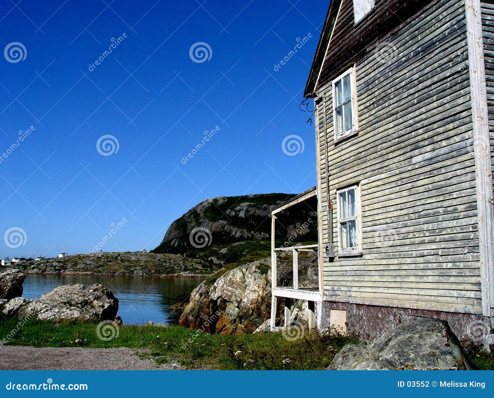 Casa velha pelo louro