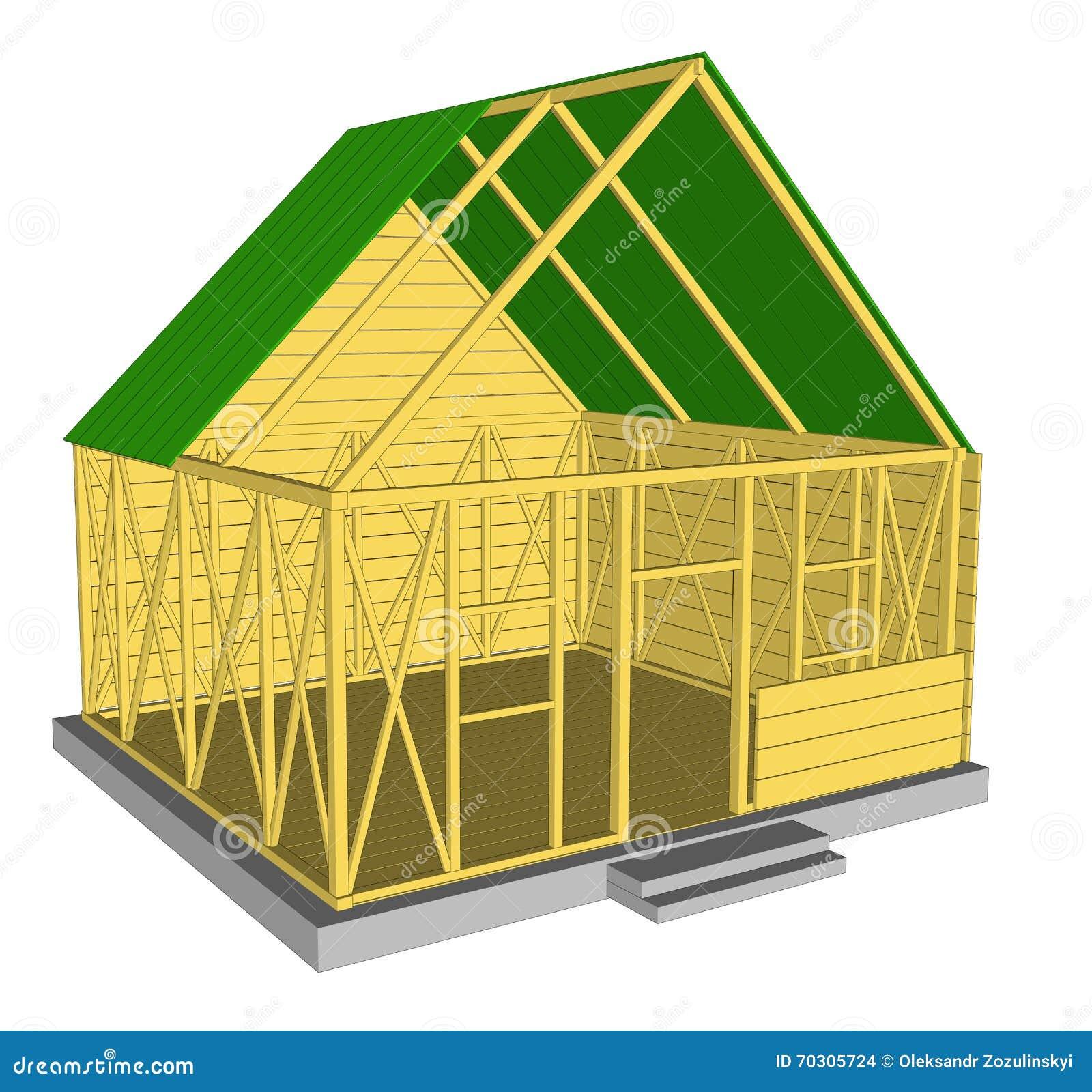 Casa verde da ecologia do vetor ilustra o do vetor for Design eco casa verde