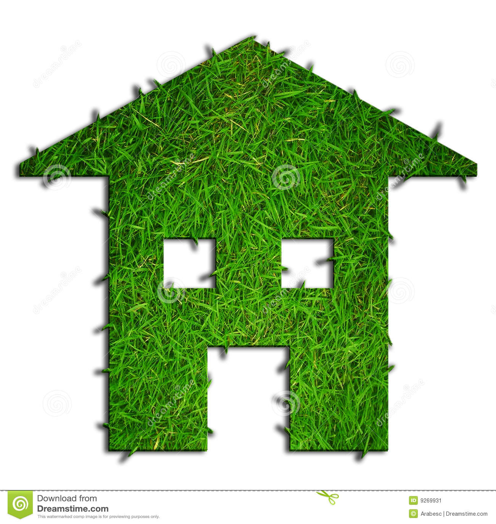 Casa verde de eco imagen de archivo imagen 9269931 for Design eco casa verde