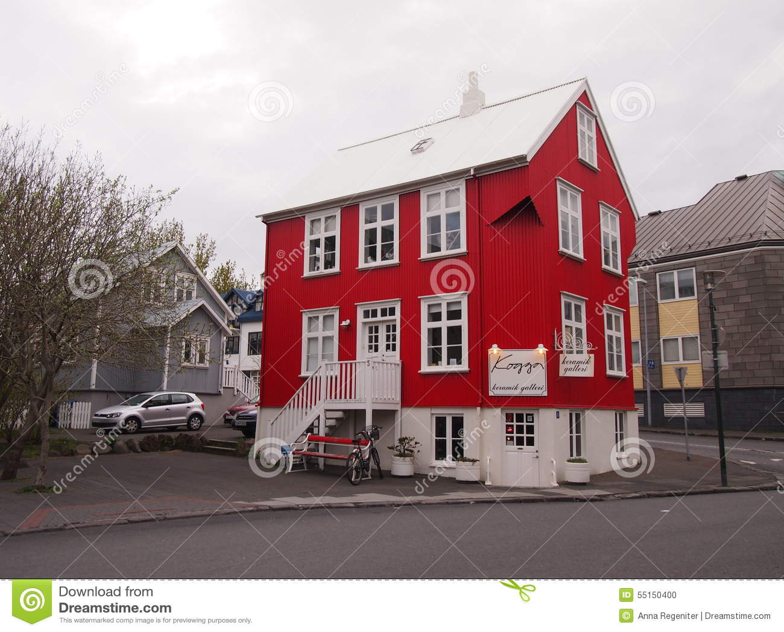 Casa vermelha Reykjavik Islândia