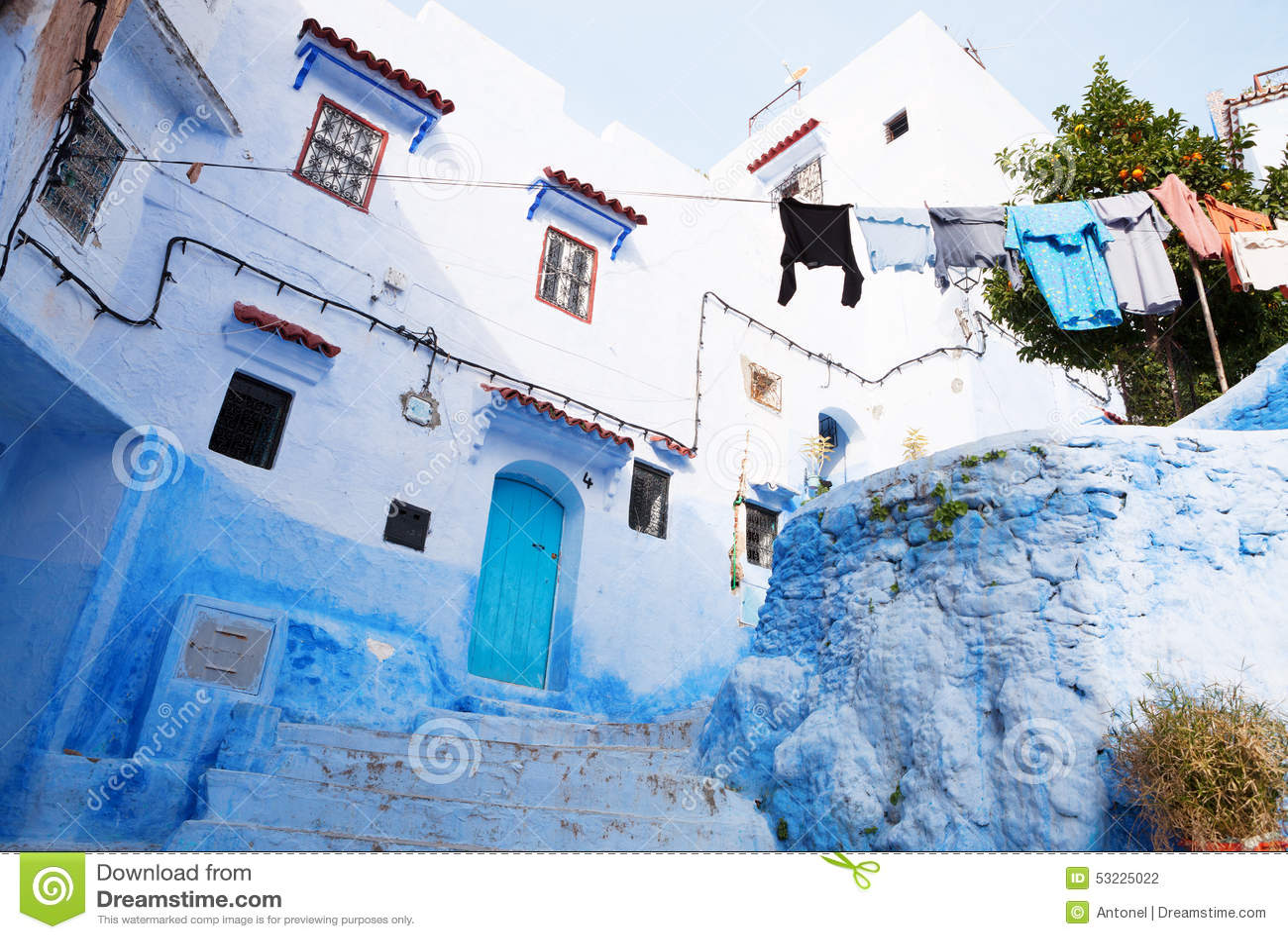Casa vieja en Medina, Chefchaouen, Marruecos