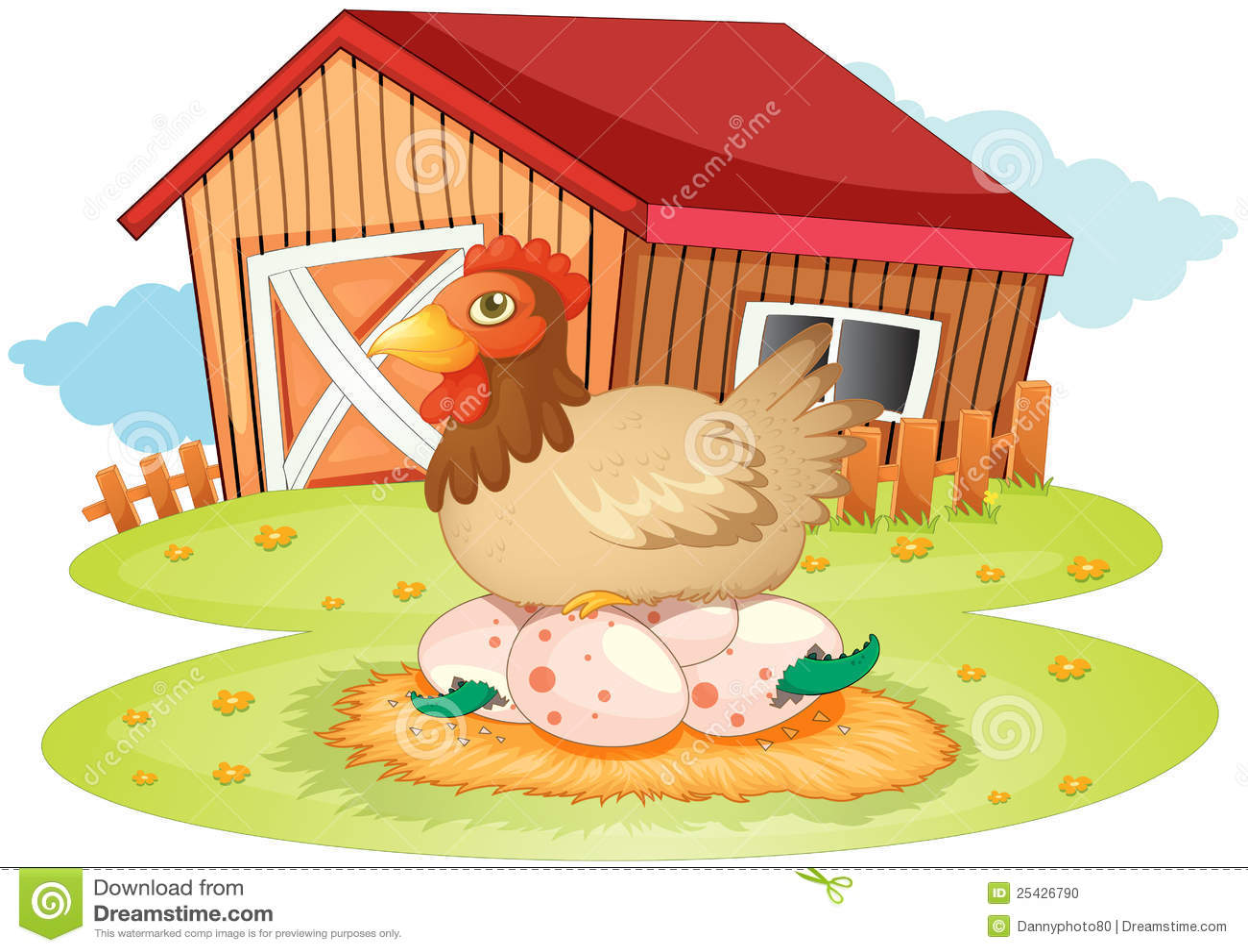 Casa y gallina de la granja stock de ilustraci n imagen 25426790 - Casa rural la granja ...