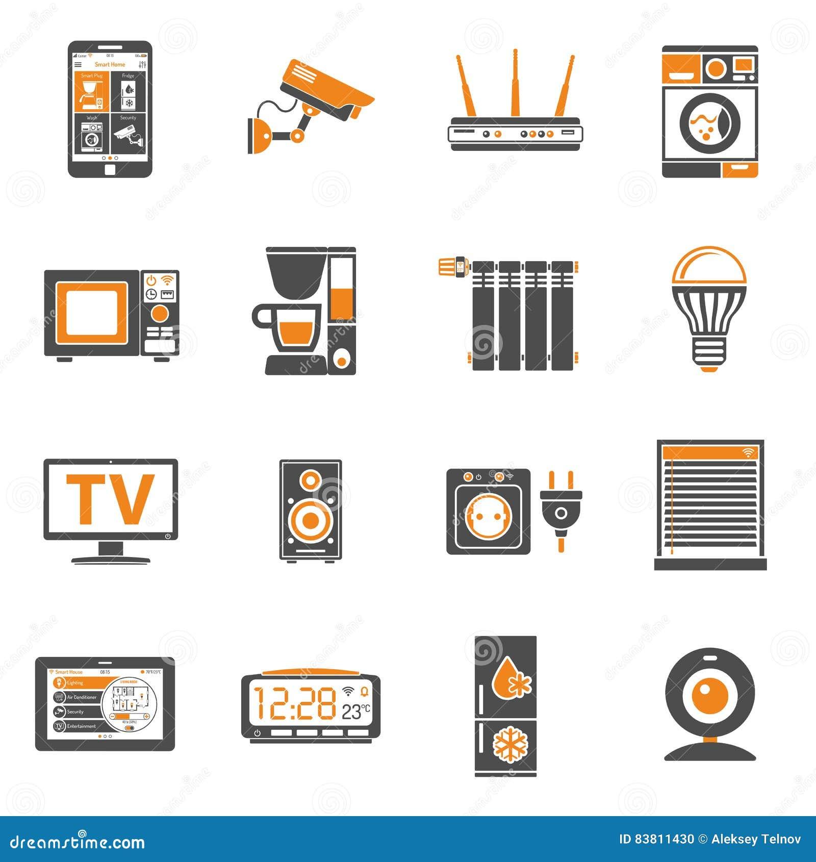 Casa y internet elegantes de los iconos de las cosas for Casas y cosas