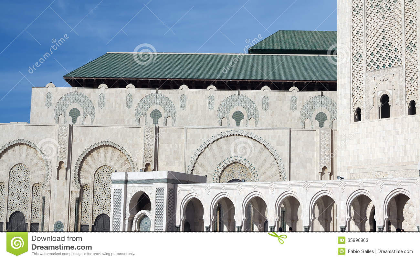 What Is A Mosque Detail: Casablanca Hassan II Mosque Minaret. Stock Image