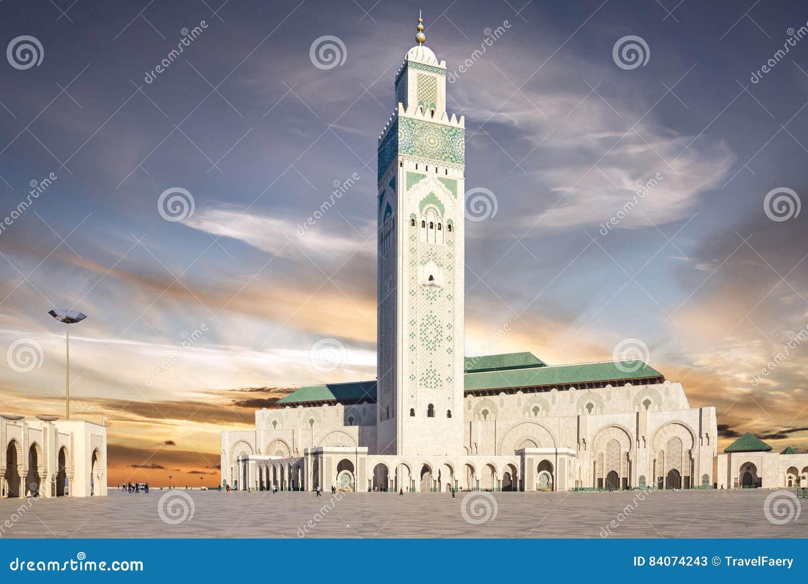 Casablanca, Marokko Moskee Hassan die II bouwen