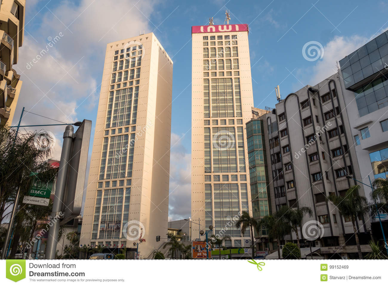 Casablanca, Morocco - May 30th, 2016 : View Of Twin Center ...