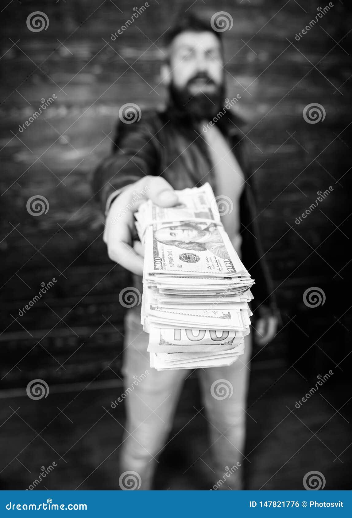 Casaco de cabedal farpado brutal do desgaste do moderno do homem e para guardar o dinheiro do dinheiro Lucro ilegal e dinheiro pr